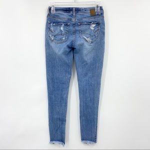 BKE Buckle Stella Raw Hem Skinny Jeans Stretch Denim Distressed